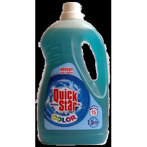 Quick Star гель для прання 1,5л. 15прань універсальний